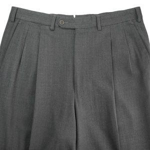 Ermenegildo Zegna Pleat Front Gray Dress Pants